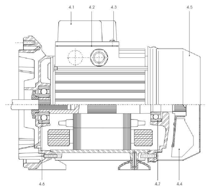 Разрез мотора MHI