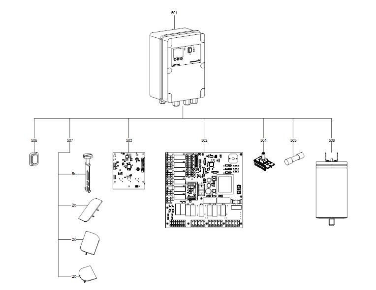 MULTILIFT панель управления деталировка
